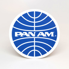 Pan Am Travel Sticker-Globe Logo