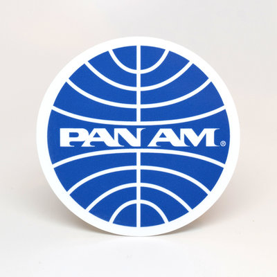 Pan Am Globe Logo Sticker