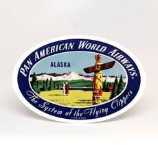 Pan Am Travel Sticker Alaska Oval