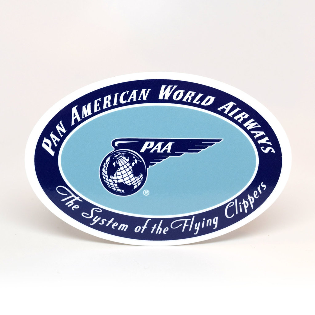 Pan Am erican World Airwyas Sticker Oval