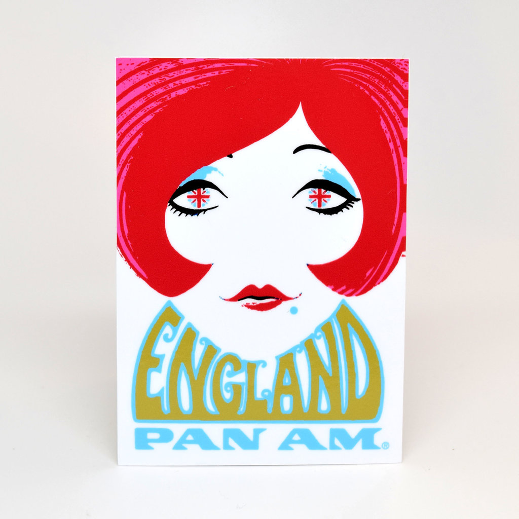 Pan Am Travel Sticker England