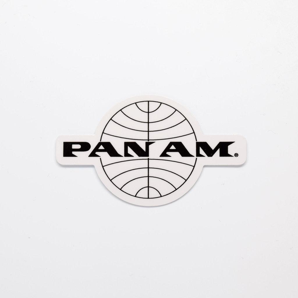 Pan Am Travel Sticker Black Logo Die-Cut