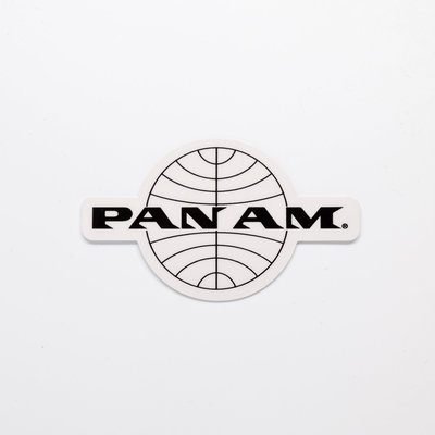Pan Am Black Word Logo Sticker