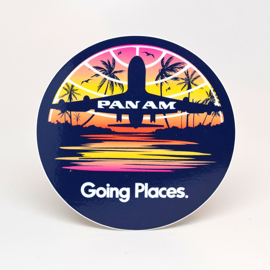 Pan Am Travel Sticker-Going Places