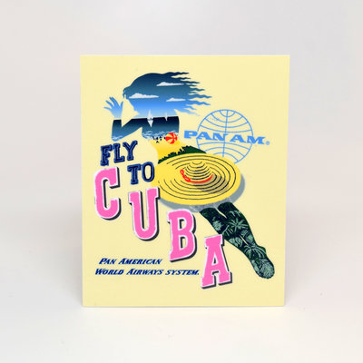 Pan Am Cuba Sticker