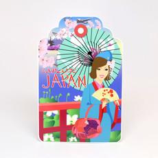 Jenny in Japan Luggage Tag Die-Cut Sticker