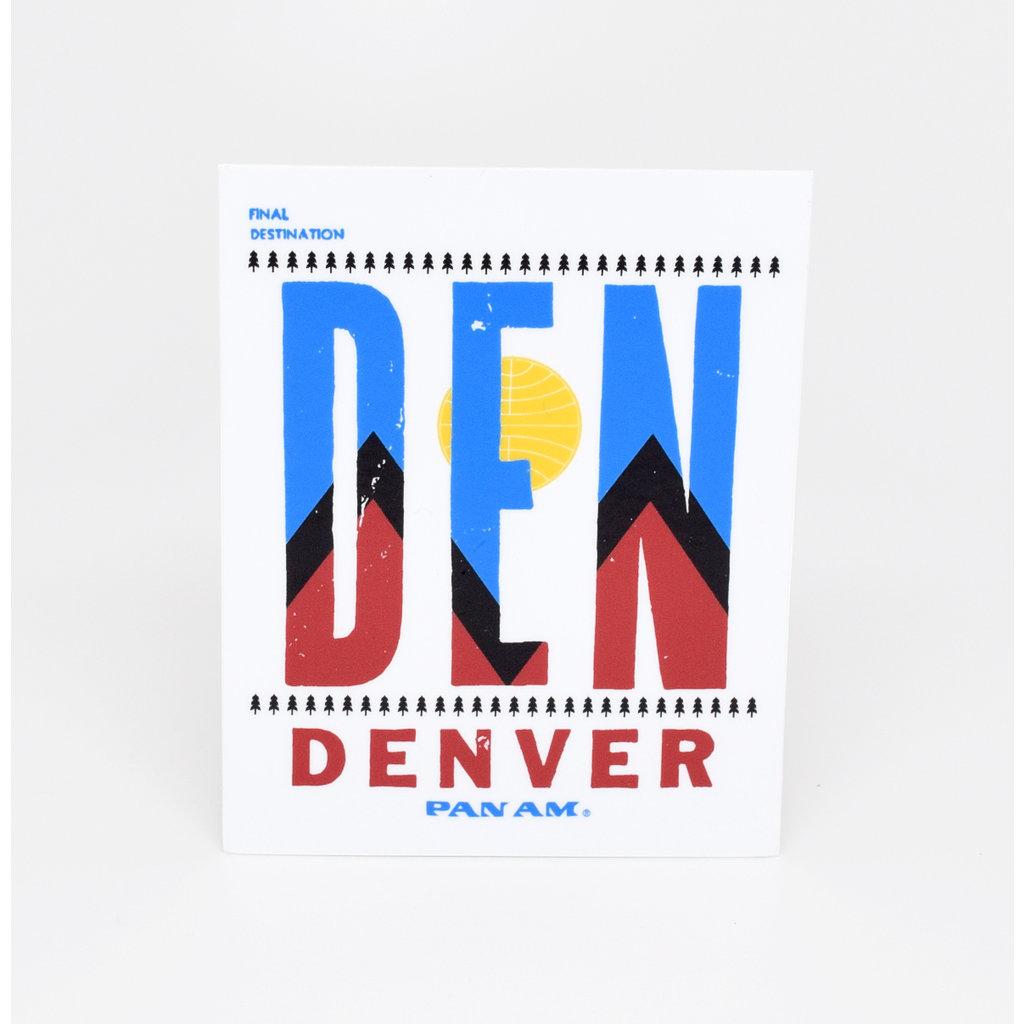 Pan Am Travel Sticker-Denver