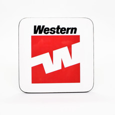 Western Logo Coaster