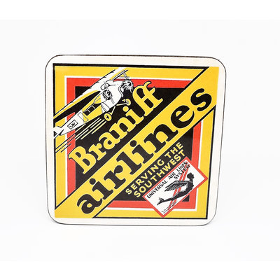 Braniff AirWays Bag Coaster