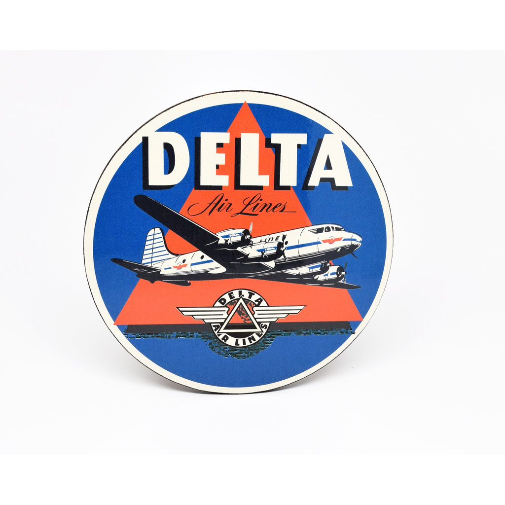 Delta Air Lines Blue Vintage Bag Coaster