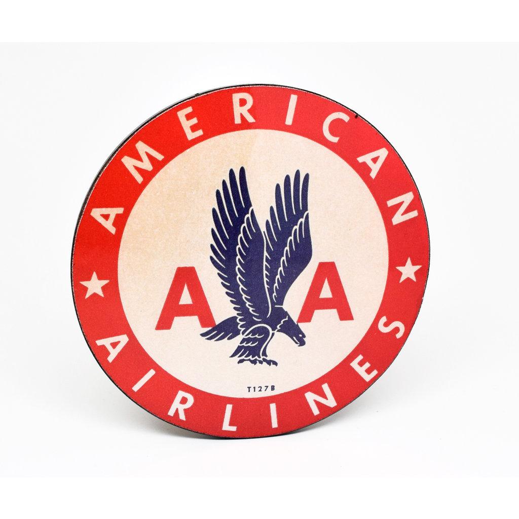 Vintage AA Round 1940's Logo Coaster