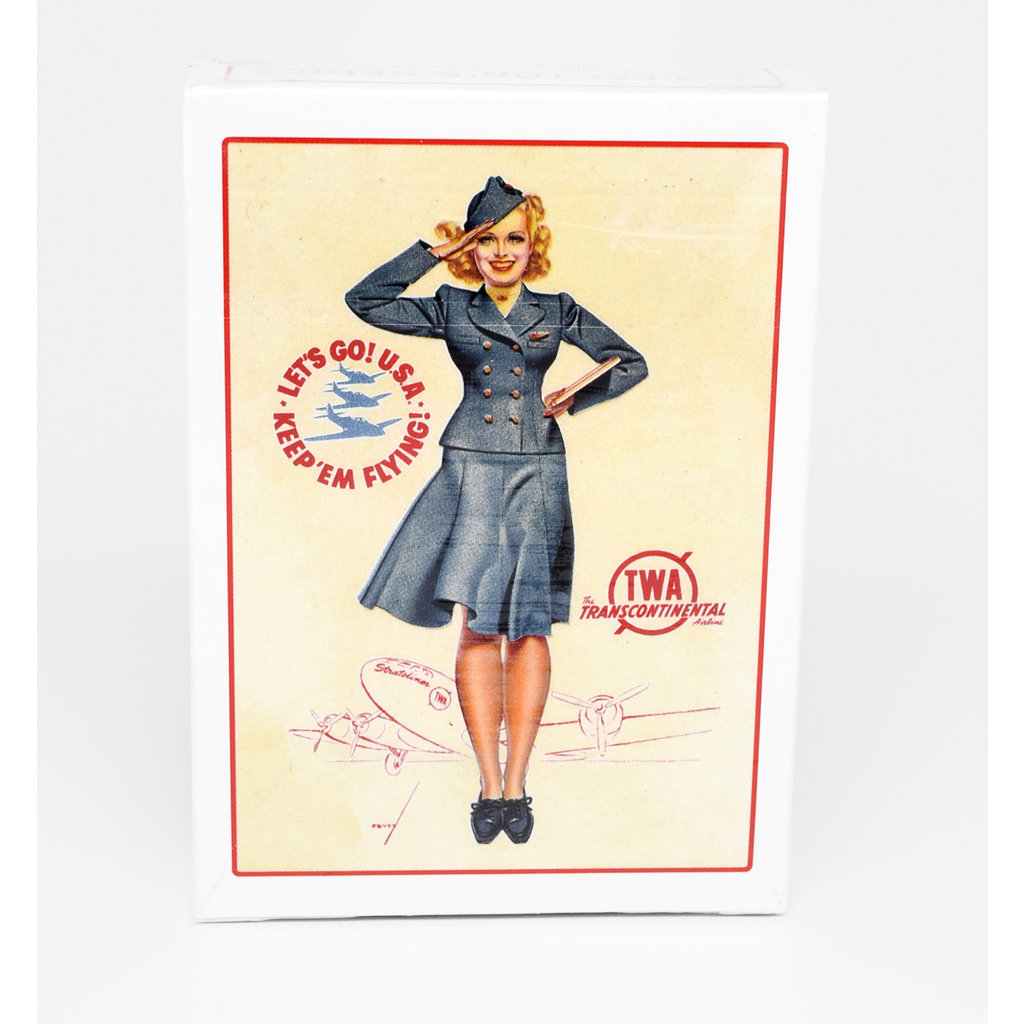 Vintage TWA Pin Up Girl Playing Cards