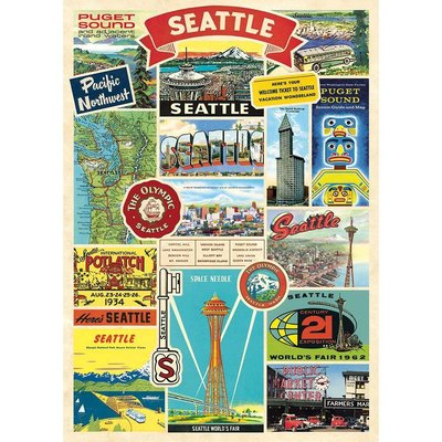 Seattle Collage Poster & Wrap