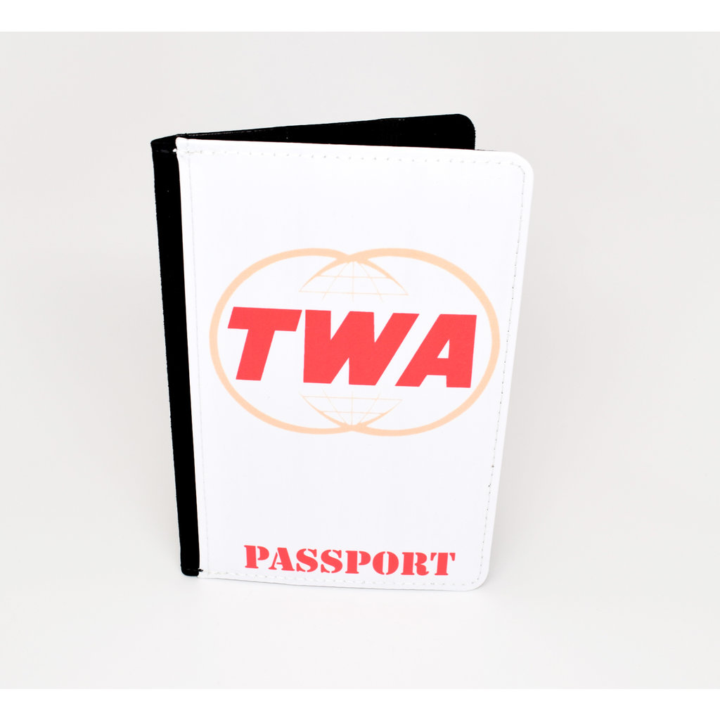 TWA Twin Globe Logo Passport Case