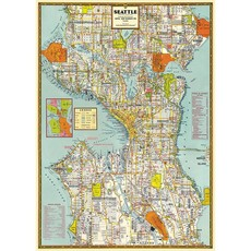 Seattle Map Poster & Wrap