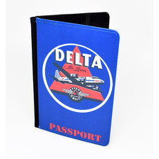Delta Air Lines 1950's Vintage Passport Case