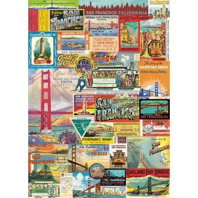 San Francisco Collage Poster & Wrap