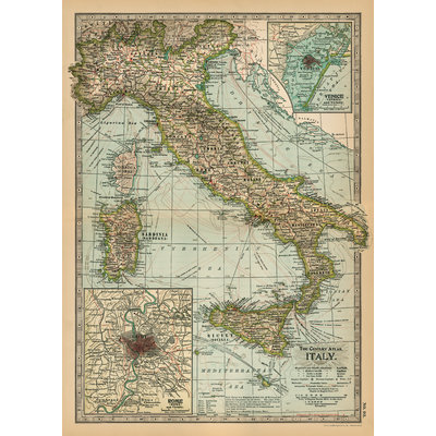 Italy Map Poster & Wrap