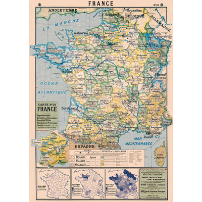 France Map Poster & Wrap