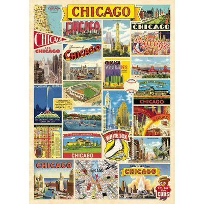 Chicago Collage Poster & Wrap