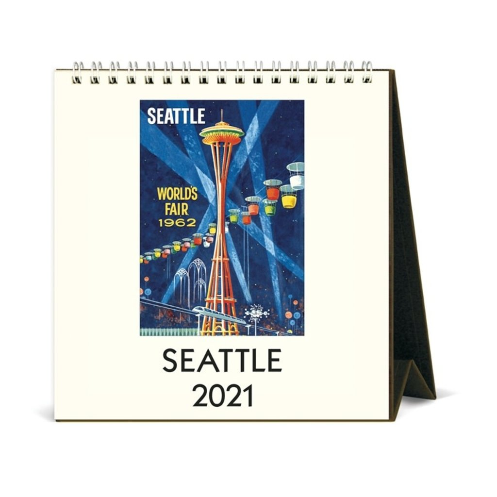 Vintage Seattle Desk Calendar 2021