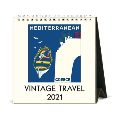 Vintage Travel Desk Calendar 2021