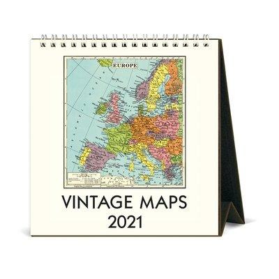 Vintage Maps Desk Calendar 2021