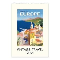 Vintage Travel Wall Calendar 2021