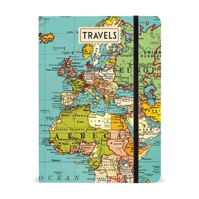 Vintage Map Large Notebook