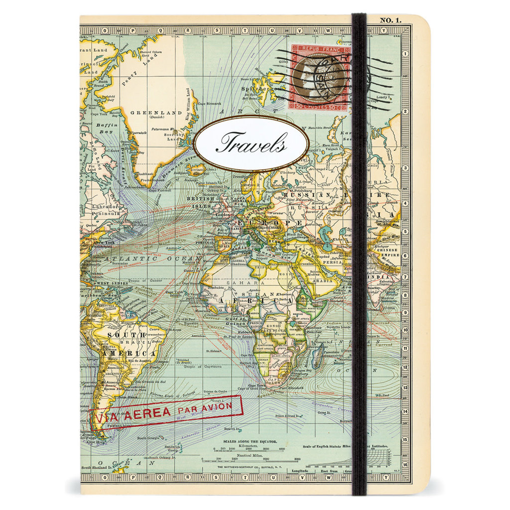 World Map Large Notebook
