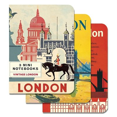 Vintage London Mini Notebooks-Disc