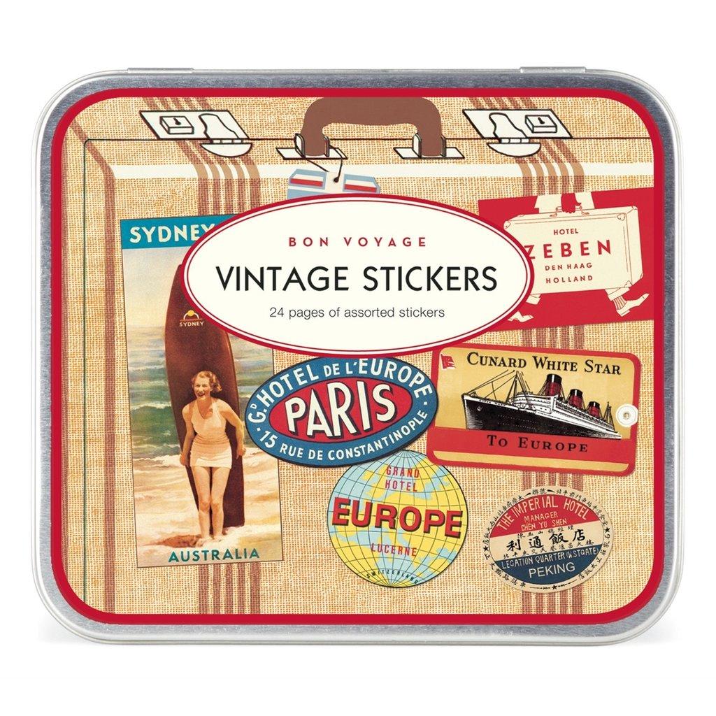 Bon Voyage Vintage Stickers