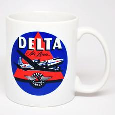 Delta  Vintage Sticker Mug