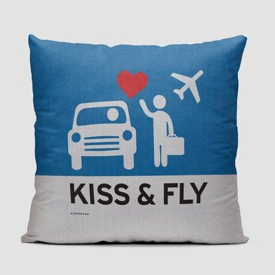 Kiss and Fly Pillow Cover
