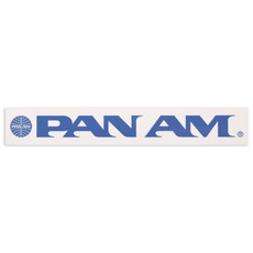 Pan Am Travel Sticker Blue Word Logo