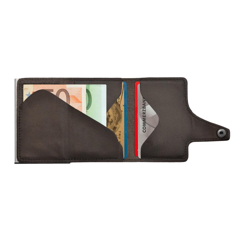 Tru Virtu Click n Slide Leather Nappa Brown