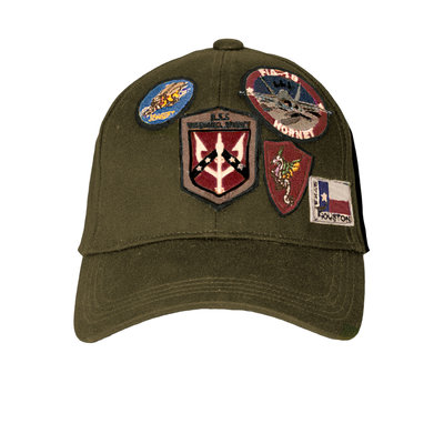 Top Gun® Cap with Patches-Olive