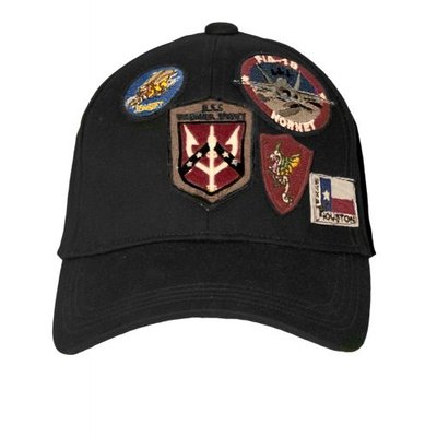 Top Gun® Cap with Patches-Black