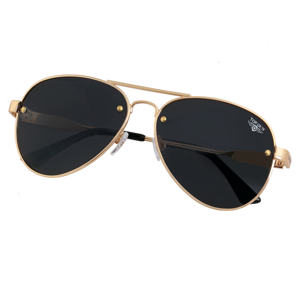 "Top Gun® Aviator ""Rivet"" Sunglasses-Gold"