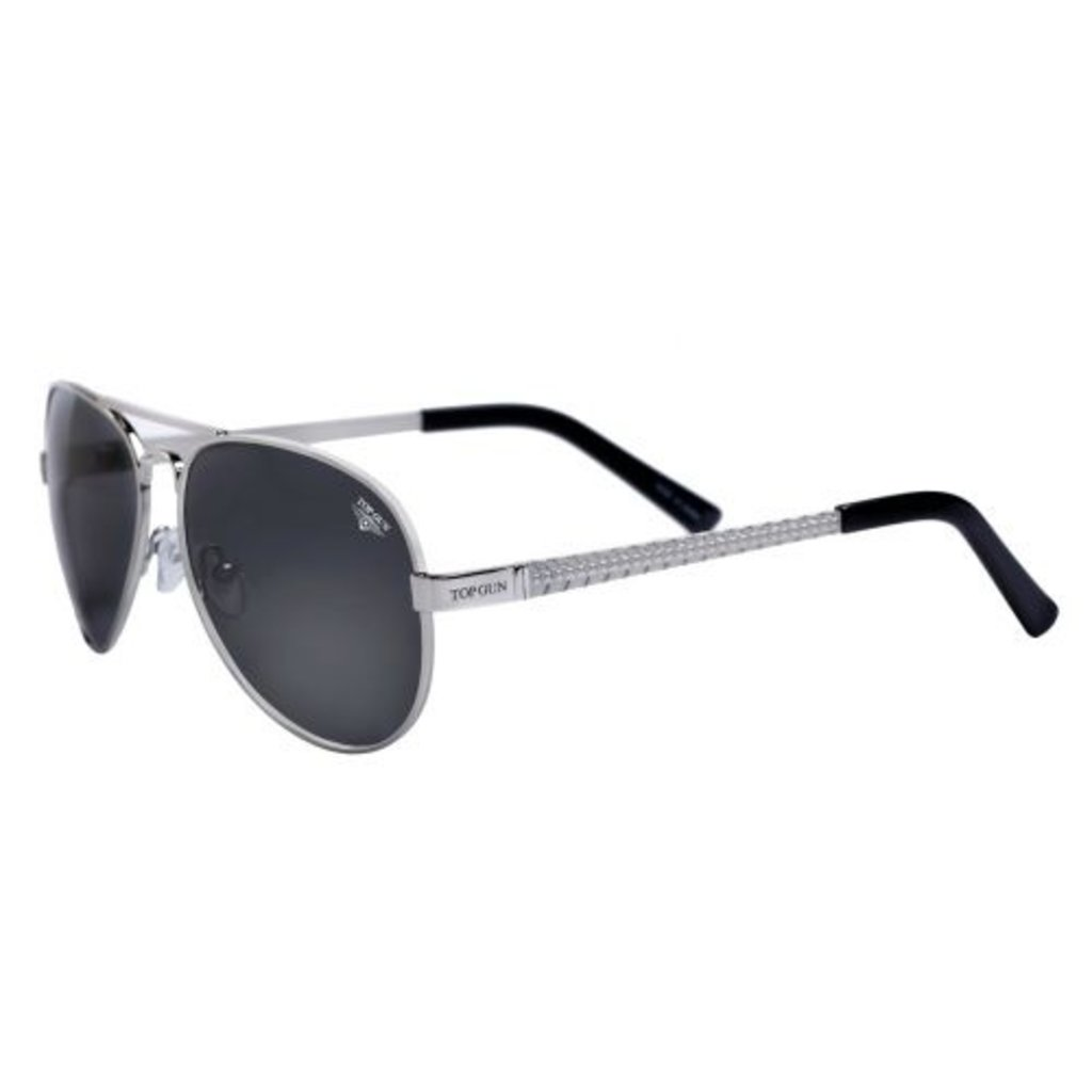 "Top Gun® Aviator ""Runway"" Sunglasses-Silver-Disc."