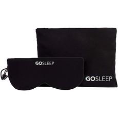 GOSLEEP 2 in 1 Travel Sleep Mask with Memory Foam Pillow-Black