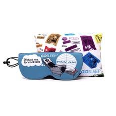 GOSLEEP 2 in 1 Travel Sleep Mask with Memory Foam Pillow-Pan Am