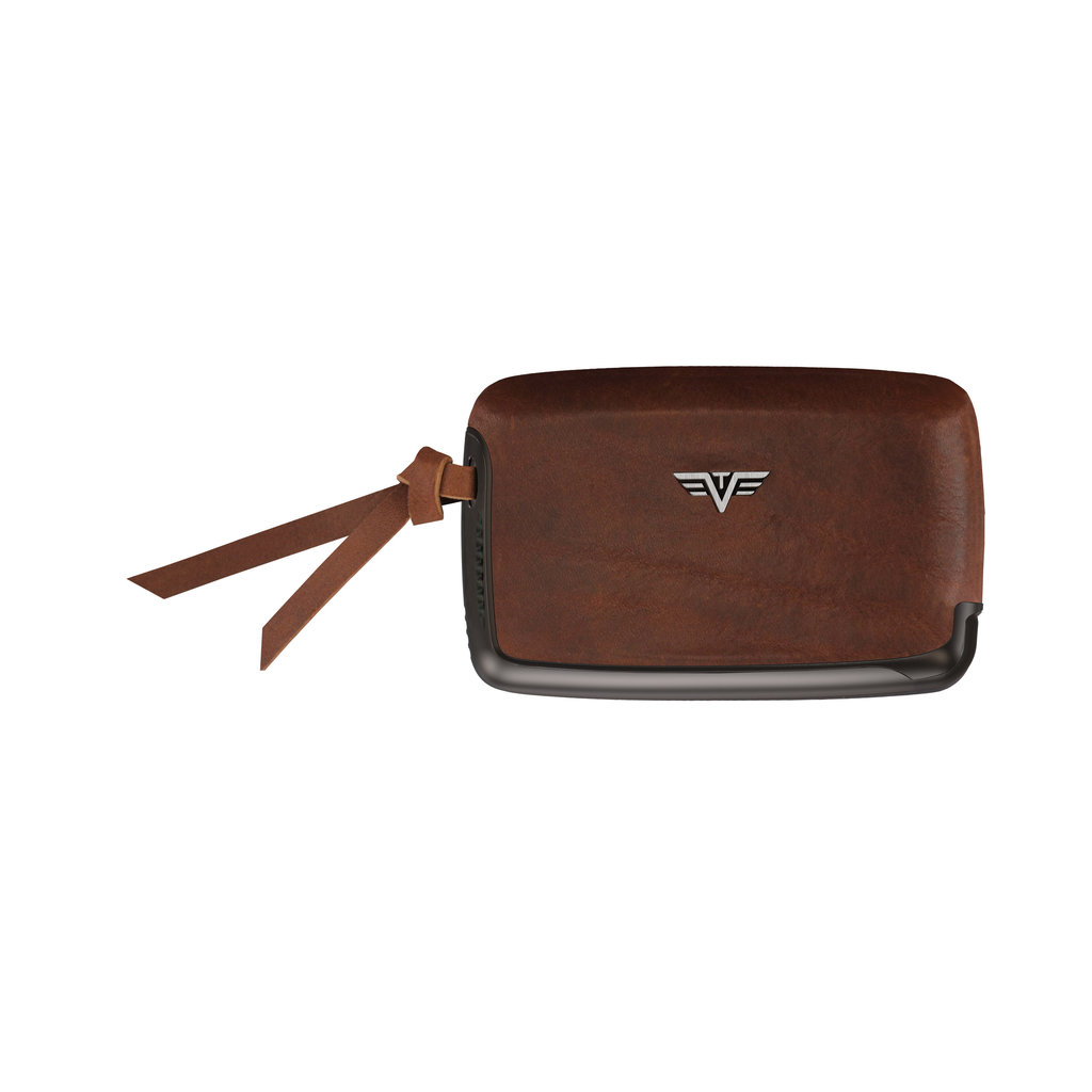 Card Case with Tassel Natural Brown