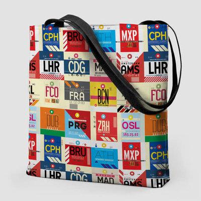 European Airports Tote Bag