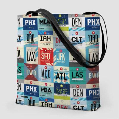 USA Airports Tote Bag