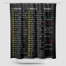 US Flight Board Shower Curtain