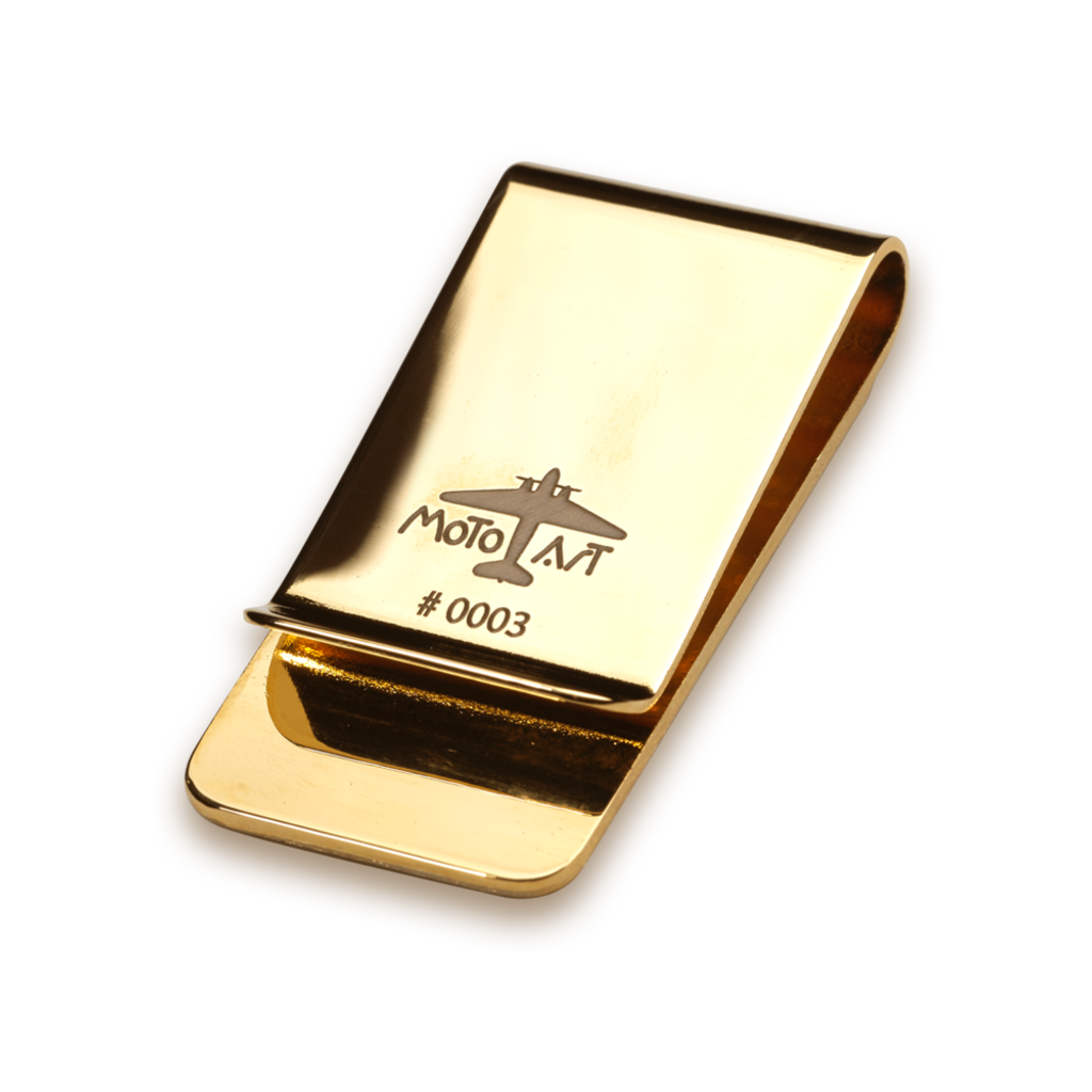 "Boeing 727 Money Clip  ""45"" PlaneTag"