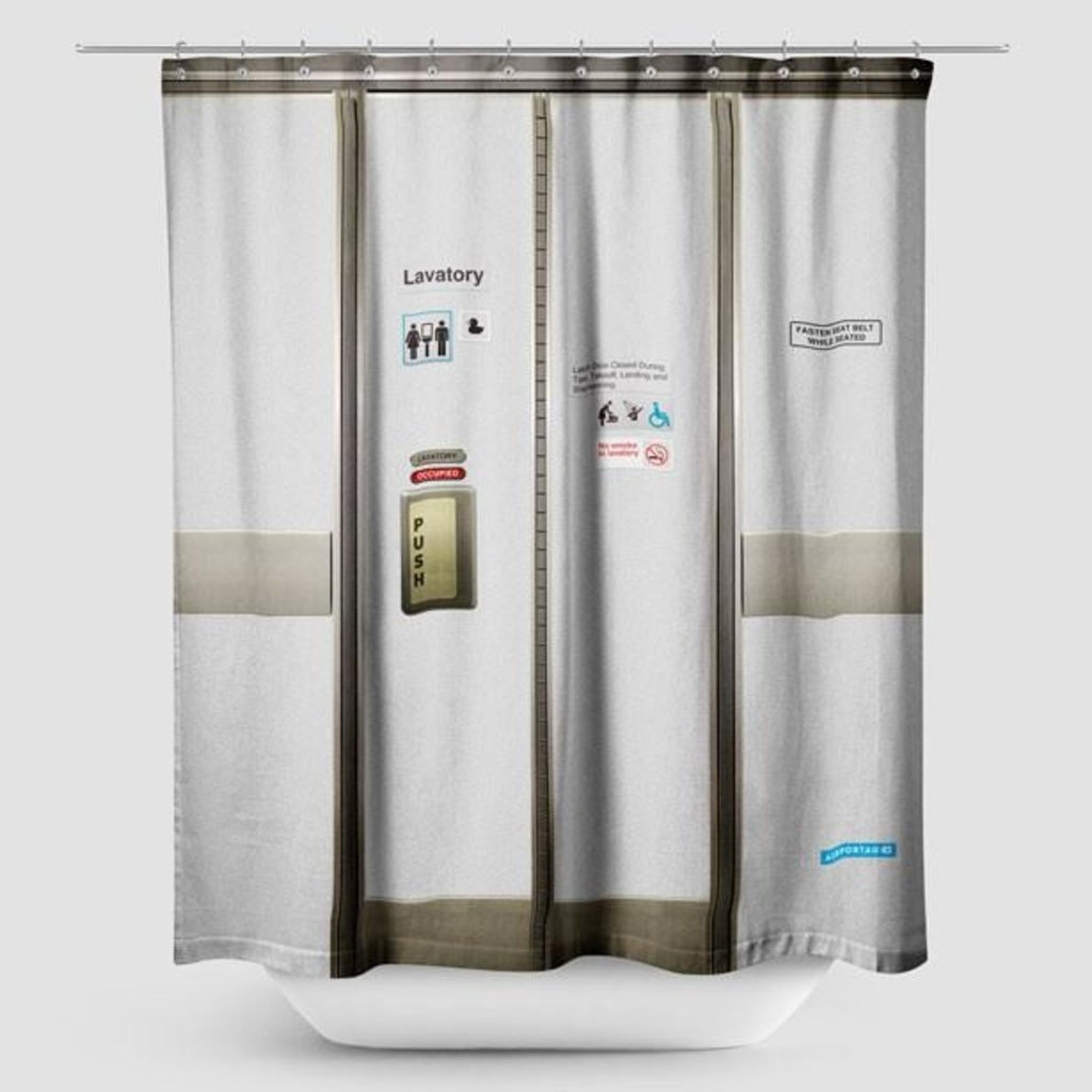 Airportag Lavatory Shower Curtain