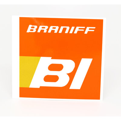 Braniff 1970's  Logo Sticker