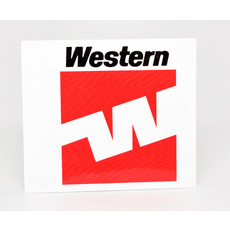 Western 70's Flying W Logo Sticker